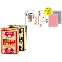 Texas hold´em 100% plastic poker gold negro - 24006334