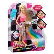 Barbie mechas arco iris