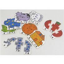 Puzzle madera educativo doble cara - 95662378