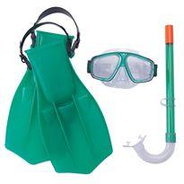 Set de máscara, snorkel y aletas style dive 7-14 a