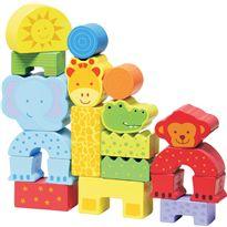 Mis primeros bloques animales salvajes 20 pzas - 95608602