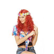 Peluca hippie con flores - 92768648