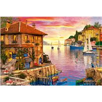 Puzzle 5000 puerto mediterraneo