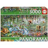 Puzzle 3000 vida salvaje panorama - 04017133(1)
