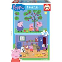Puzzle 2 x 48 peppa pig