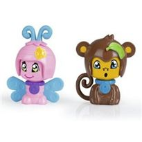 Pinypon pack 2 mascotas: mariposa y mono