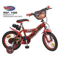 "Bicicleta 14"" prodigiosa ladybug"