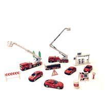 Set vehículos 15pzs bomberos - 87822391