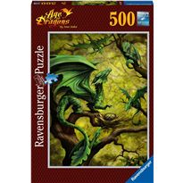 Puzzle 500 dragon verde