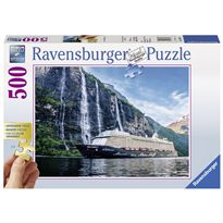 Puzzle 500 fiordo con barco