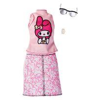 Barbie moda deluxe conjunto rosa - 24555143