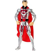 Figura superman traje acero liga justicia 30cm