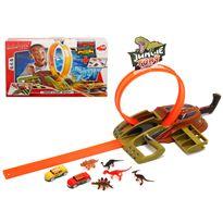 Pista looping dino c/2 coches y lanzador - 91057000