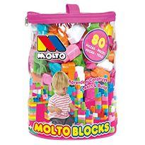 Bolsa rosa blocks 80 piezas