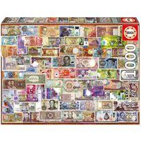 Puzzle 1000 billetes del mundo