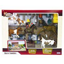 Familia caballos con establo y accesorios - 89814340