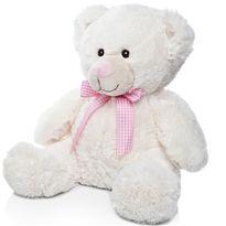 Osito marfil 54 cm. lazo rosa - 01990885