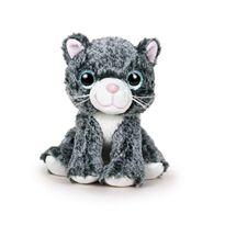 Gato 22 cm. negro gris