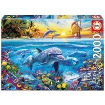 Puzzle 2000 familia de delfines - 04017672