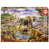 Puzzle 3000 abrevadero bajo el arco iris - 04017698