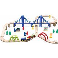 Tren de madera 60 piezas - 95613371