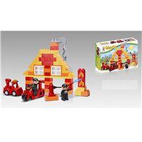 Estación bomberos construcción 74 pzas - 87859008