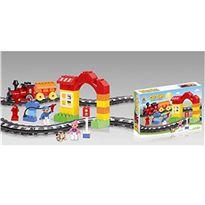 Tren construcción infantil 13 cm c/sonido 47 pzas - 87862590
