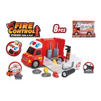 Camión bomberos con luz y sonido - 87890571