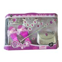 Bolso, zapatos, varita y joyas rosa - 89908139