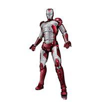 Iron man mk v + set hall de armaduras figura 15 cm - 33117786