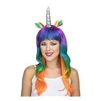 Peluca unicornio multicolor - 55225591