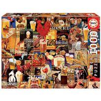 Puzzle 1000 collage de cerveza vintage