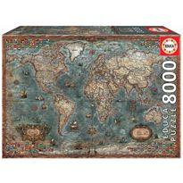 Puzzle 8000 mapamundi histórico
