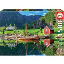 Puzzle 1500 barco vikingo - 04018006