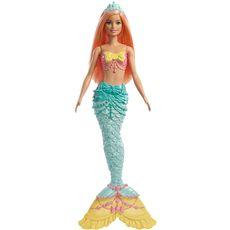 Barbie dreamtopia - muñeca sirena con pelo naranj
