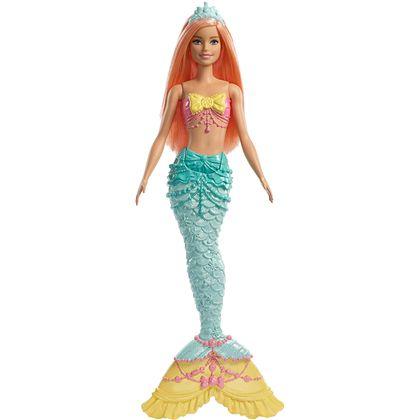 Barbie dreamtopia - muñeca sirena con pelo naranj - 24569888