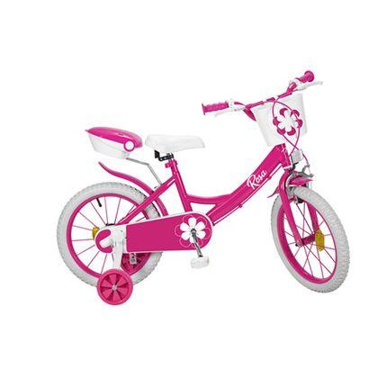 """Bicicleta 16"""" colors rosa - 34316233"""