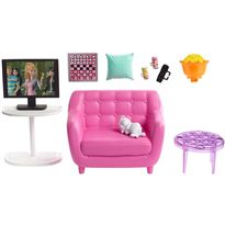Barbie muebles hogar salón con sofa