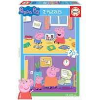 Puzzle 2x20 peppa pig