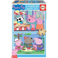Puzzle 2x25 peppa pig