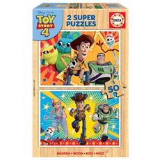 Puzzle 2 x 50 toy story madera