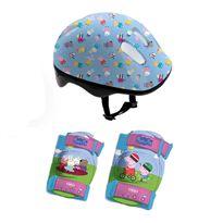 Casco y protecciones peppa pig en mochila - 50500119(1)