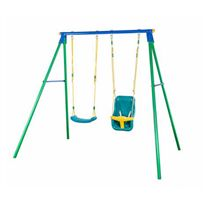 Columpio doble metal con asiento bebe - 65602122(2)