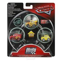 Pack 3 cars mini racers mcqueen luigi cruz storm