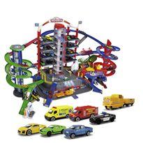 Garaje supercity 7 plantas con coches y tren - 33359989