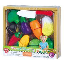 Caja madera verduras 11 piezas - 96530013