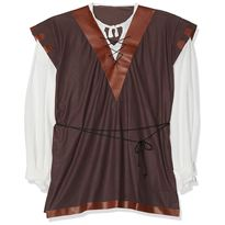 Nc012 camisa c/chaleco medieval t-l - 57111129