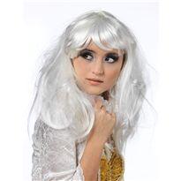 Cm062b peluca lisa larga c/flequillo blanco t-blan - 57156201