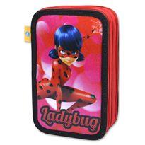 Estuche 3 pisos glitter ladybug - 30540956