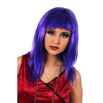 Cm062m peluca lisa larga c/flequillo morada t-mora - 57156210